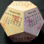 Dodecahedron Cube Calendar