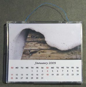 CD case wall calendar
