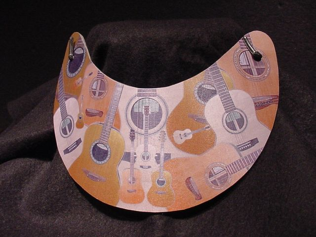 guitar collage printed on mousepad paper