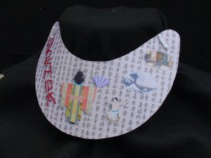 asian theme collage printed on mousepad paper