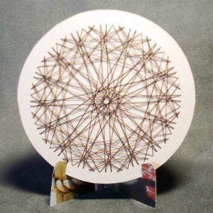 paper embroidery circle