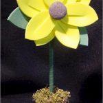 yellow fun foam flower