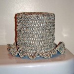 Crochet Toilet Paper Hat with Sewing Threads