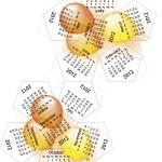 2012 Dodecahedron calendar - balloons