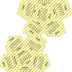 2012 Dodecahedron calendar - yellow stripes