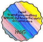 Rainbow hug from clear margarine tub lid
