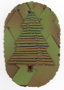 Paper Embroidery Christmas Tree with Beads - 2