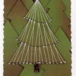 Paper Embroidery Christmas Tree with Beads - 3