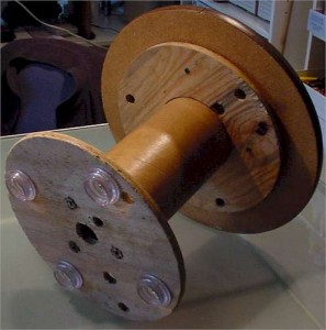 underside view of assembled spool