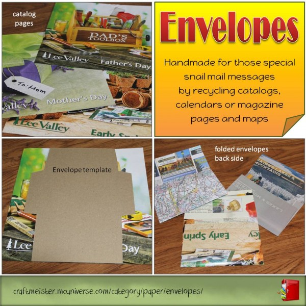handmade recycled envelopes