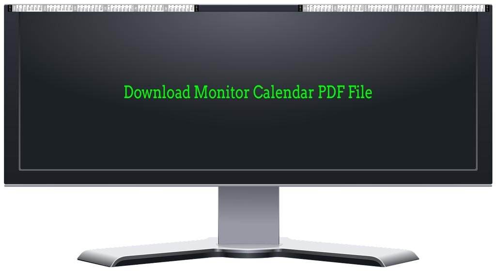 monitor calendar download links
