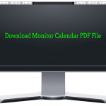 Monitor Calendar PDF Download Links