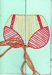 embroidered bra card front