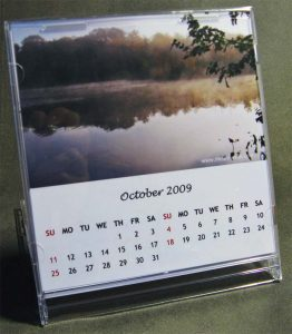 CD case desktop calendar