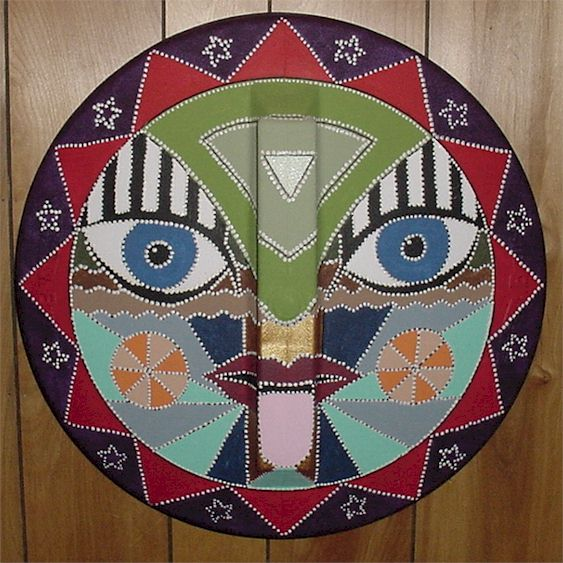 garbage can lid mask finished painting