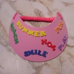 child's visor with fun foam letters