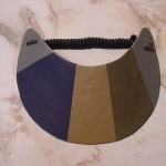 patchwork leather visor
