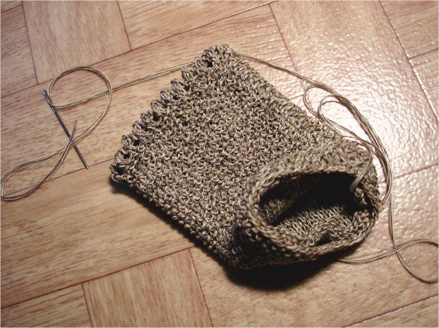 knitted camera cover - folded in half