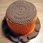 crochet toilet paper hat