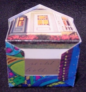 holiday card house underside