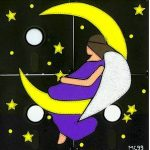 fun foam moon angel
