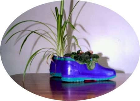 From Winter Boot to Flower Pot
