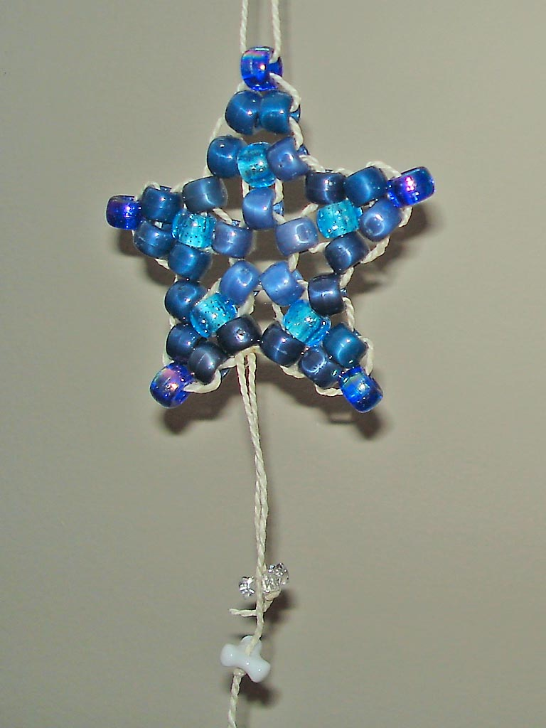 Pony Beads Star Ornament