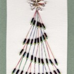 Paper Embroidered Christmas Cards - Christmas Tree