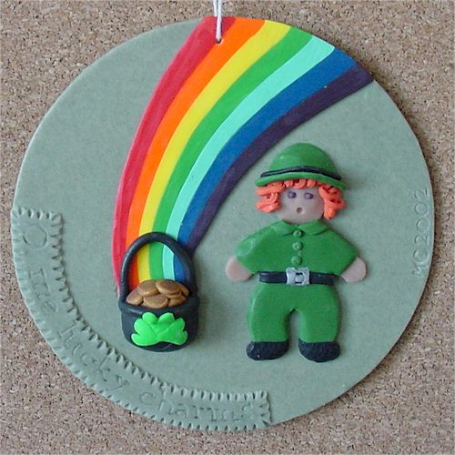Painting with Polymer Clay – Leprechaun
