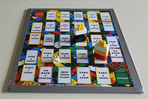 Homemade Lego Game Board 2 sheet size on cardboard