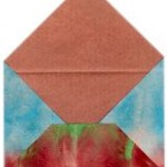 Tie-Dyed Paper for Crafts or Homemade Envelopes