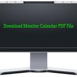 Monitor Calendar PDF Download Links