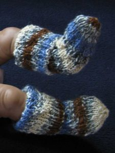 knitted spiral baby socks