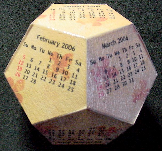 The 2018 12 Sided Dodecahedron Cube Calendars Are Ready