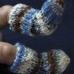 baby socks closeup