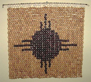 wall hanging from beads