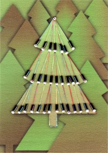 Paper Embroidery Christmas Tree with Bugle Beads - 5