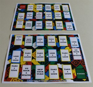 Homemade Lego Game Board big version - printed on 2 sheets